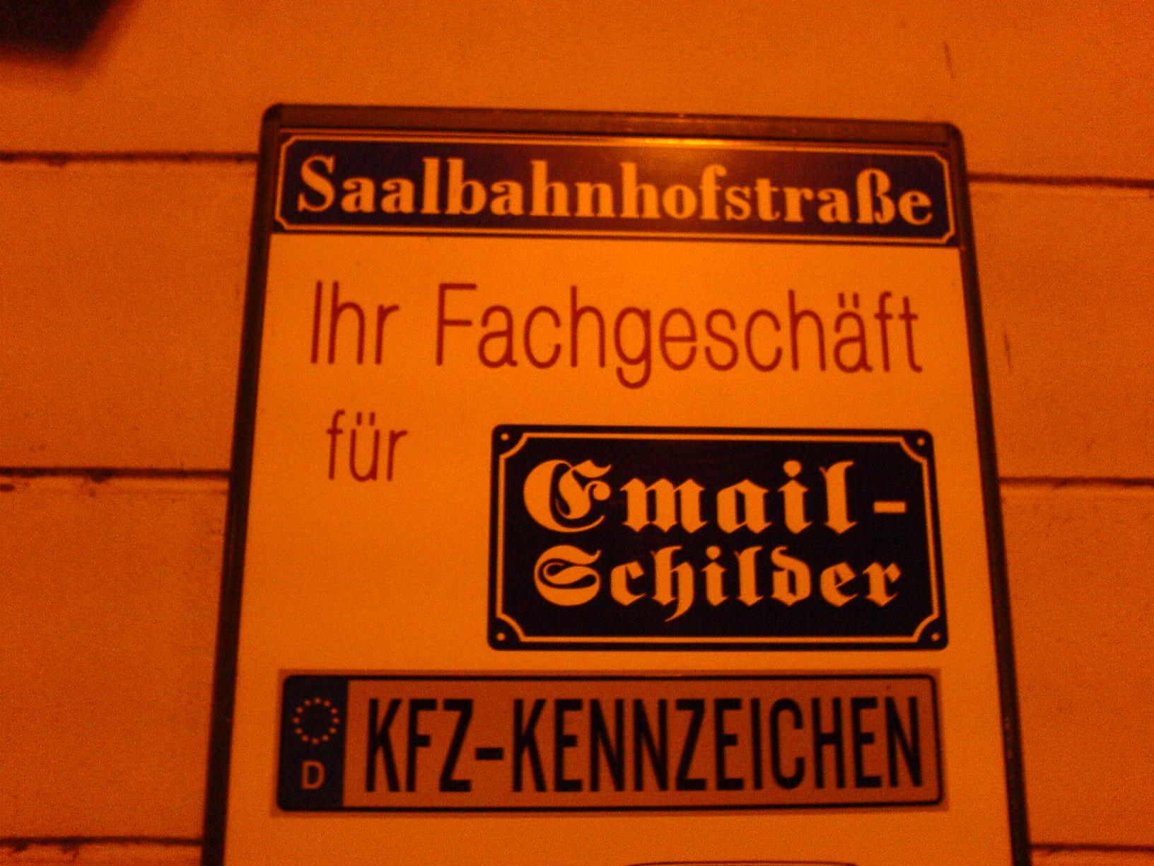 Email Schilder